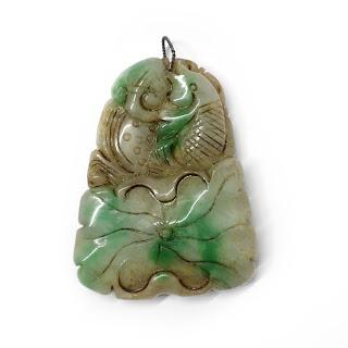 Carved Jade Fish Pendant