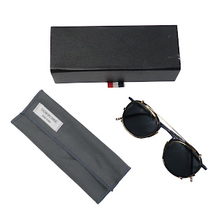 Thom Browne Rx Glasses With Clip-On Sunglasses
