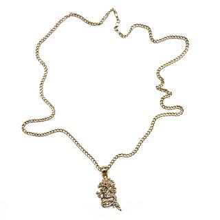 14K Gold Dragon Pendant Necklace