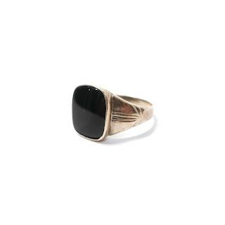10K Gold & Onyx Ring