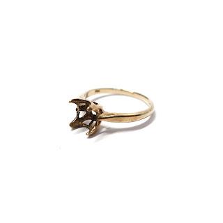 10K Gold Ring Mounting-Large