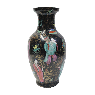 Asian Hand-Painted Vase