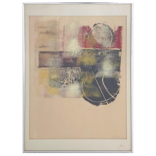 Abstract Signed Monoprint, 1970