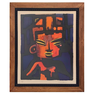 Modernist Tribal Signed Lithograph