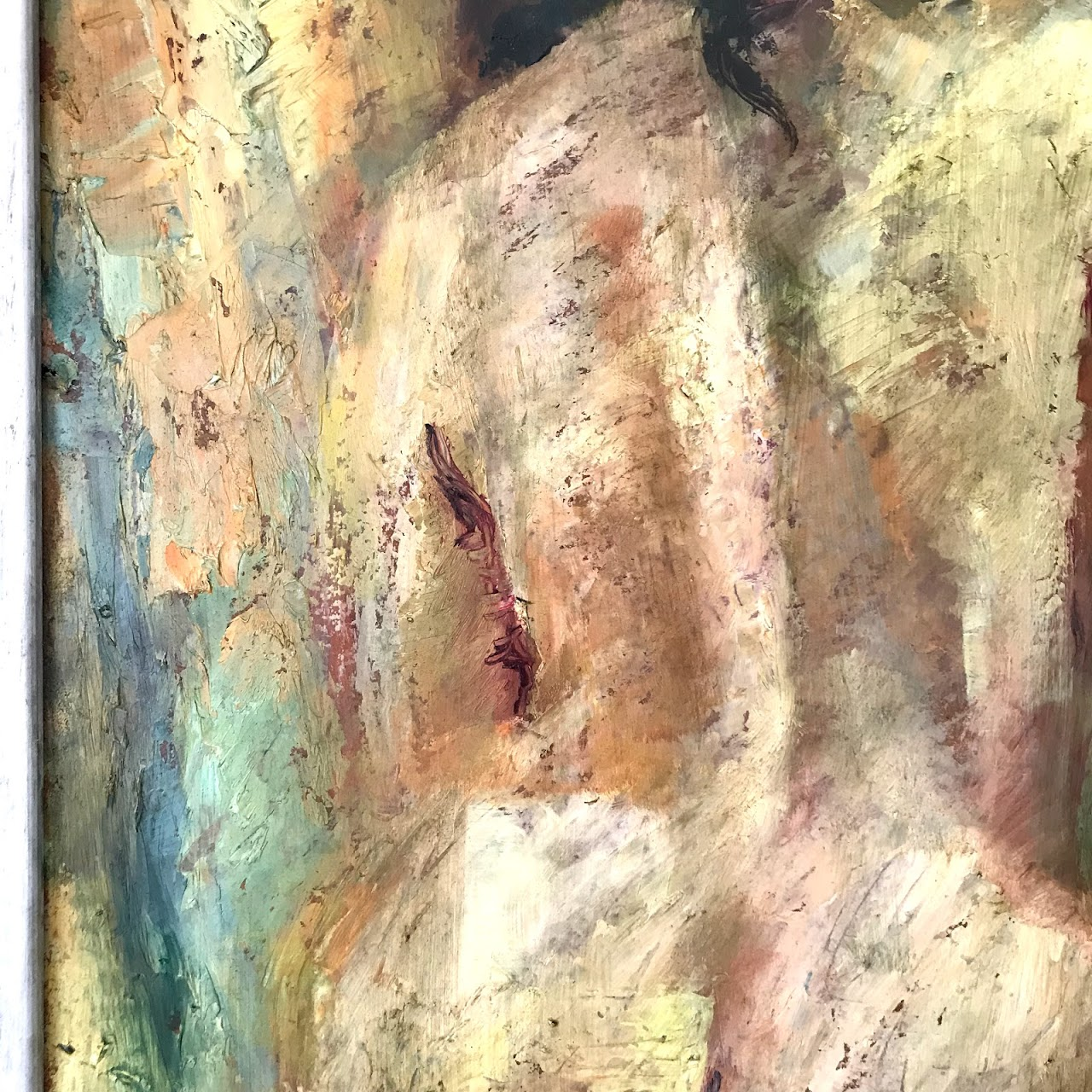 Figural Nude Signed Oil Painting