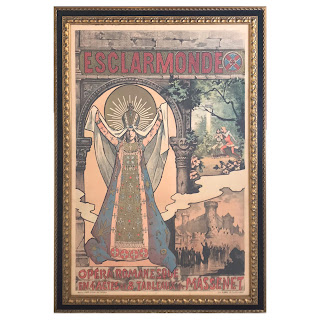 Alfred Choubrac 'Esclarmonde' Art Nouveau Lithograph Opera Poster