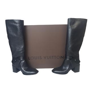 Louis Vuitton Black Leather Calf Boots