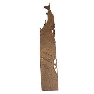 Papua New Guinea Carved Storyboard
