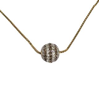 Henri Bendel Crystal Pendant Necklace