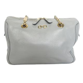 Salvatore Ferragamo Grey & Golden Chain Handbag