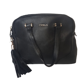 Furla Black Leather Crossbody Bag