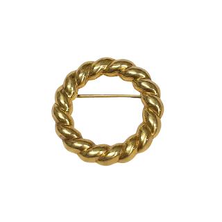 18K Gold Tiffany Wreath Brooch