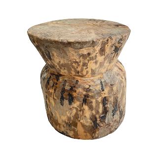 Wood Specimen Accent Table