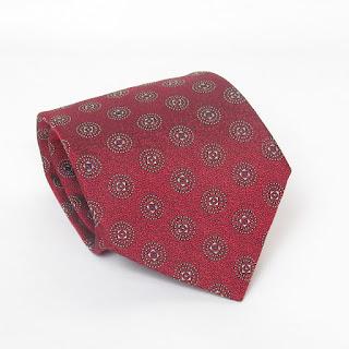 Hermès Red Geometric Tie