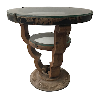 Art Deco Two Tier Accent Table