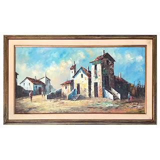 Rossini Signed Italian Scene Oil Painting