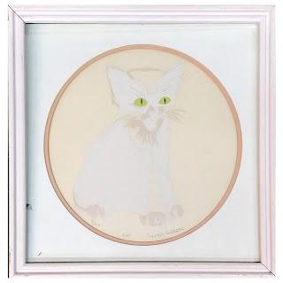 Sarah Gibbons Signed 'Cat' Silkscreen