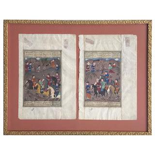 Persian Mughal Illustrated Manuscript Pair
