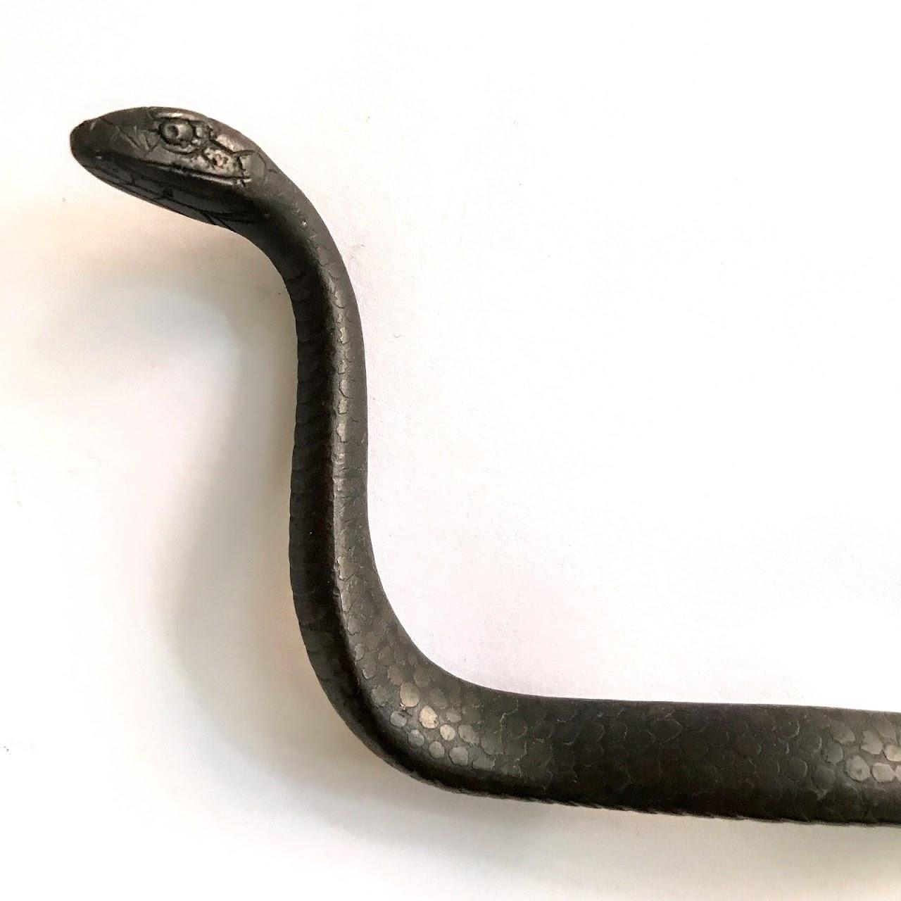 Cast Bronze Snake