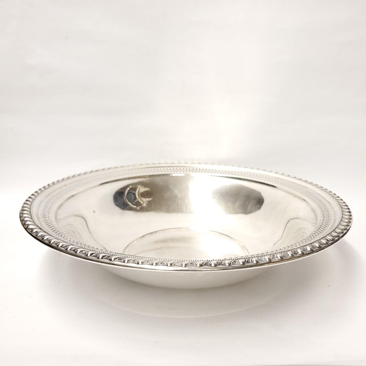 "Sterling Silver 11"" Pierced Rim Bowl"