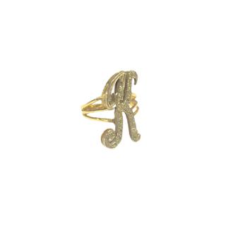 14K Gold & Diamond K Ring
