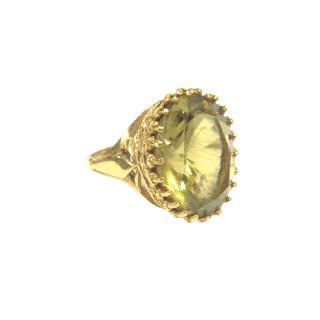 14K Gold & Olivine Stone Ring