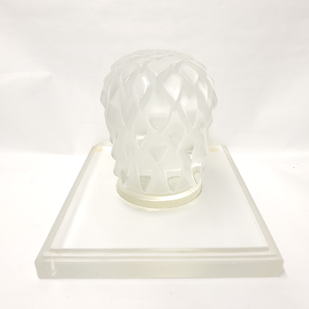 Crystal Eagle Head Bookend Pair