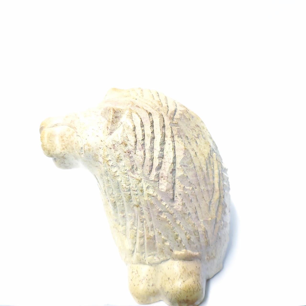 Carved Soapstone Lion