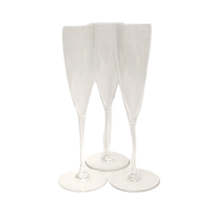 Baccarat Crystal Perfection Champagne Flute Trio