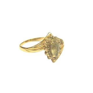 14K Gold & Cloudy Quartz Ring
