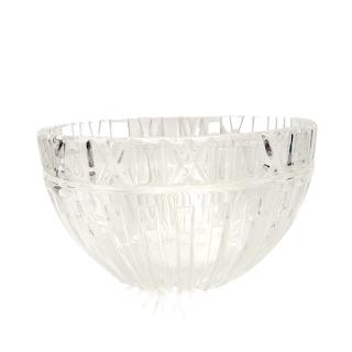 "Tiffany & Co. 10"" Crystal Atlas Bowl"