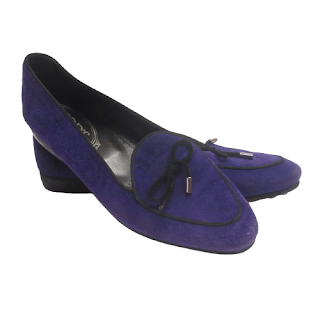Tod's Purple Suede Flats
