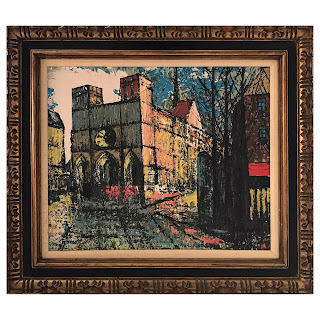 Roncalli Signed Modernist Oil Painting