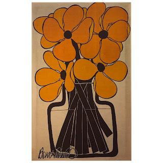 Howard Smith for House Vallila 'Peru' 1970s Textile Print