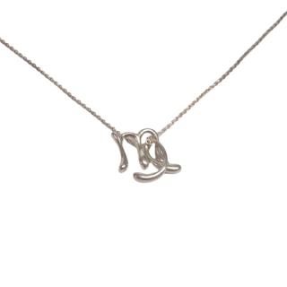Tiffany & Co. Elsa Peretti Alphabet Series  Sterling Silver 'l' and 'm' Pendant Necklace