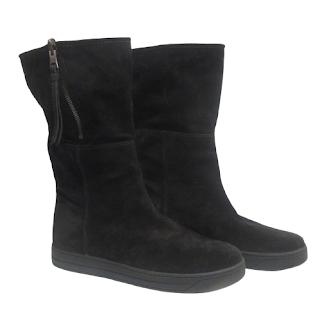 Prada Suede Leather Calf Boots