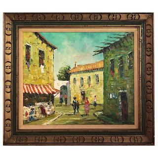 Bossier Signed Oil Painting