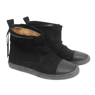 MM6 Maison Martin Margiela Suede Leather Ankle Boots