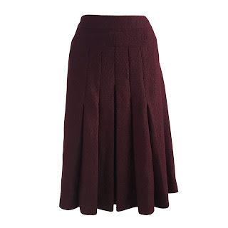 Chanel NEW Pleated Bouclé Skirt