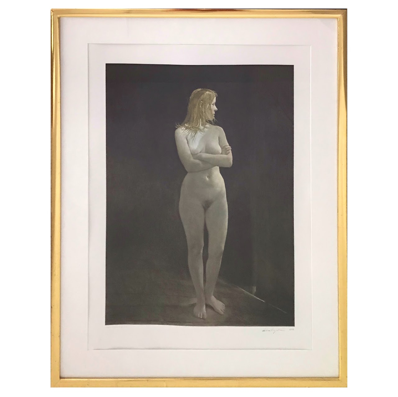 Andrew Wyeth Signed Collotype 'The Virgin'