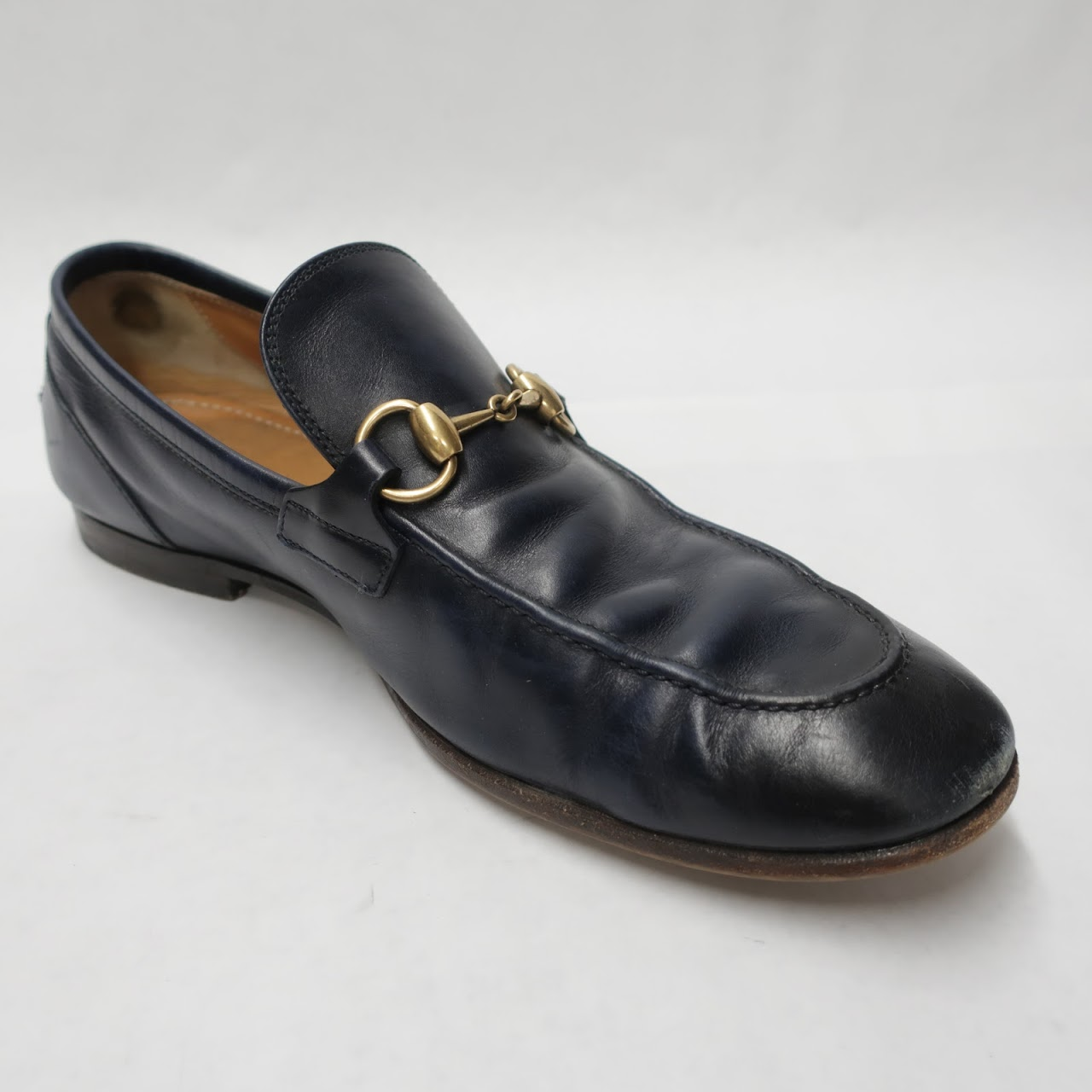 Gucci Navy Loafers