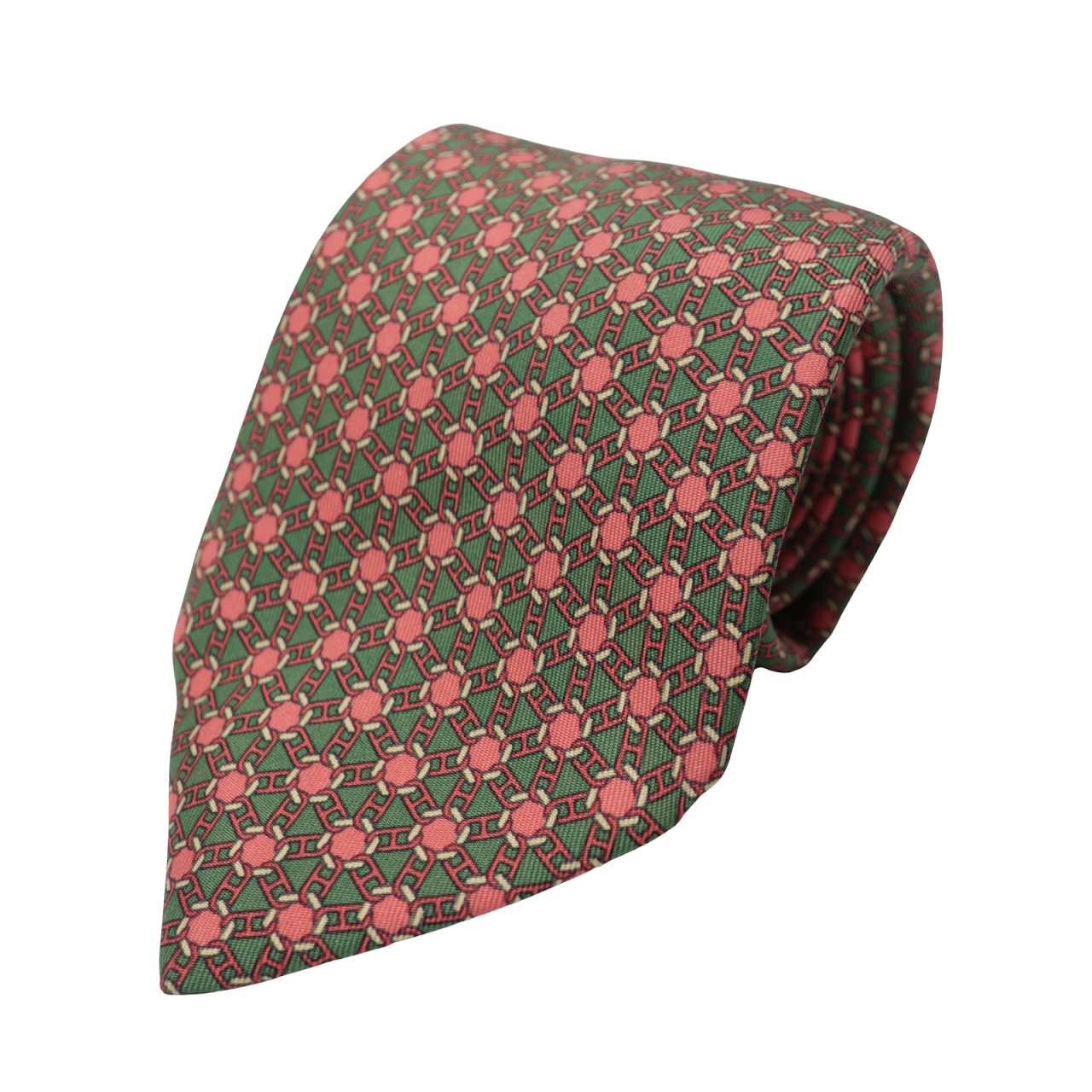 Hermès Pink Geometric Tie