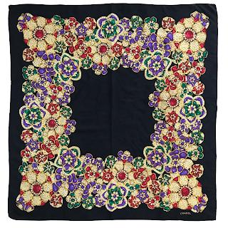 Chanel Jewels Silk Scarf