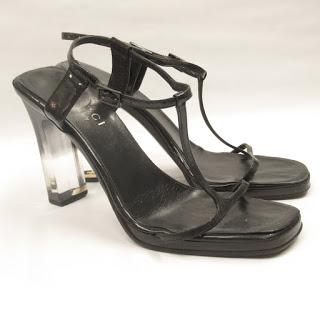 Gucci Lucite Heel Sandals