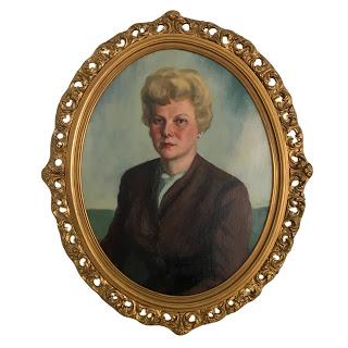 Oval Oil Portrait Painting