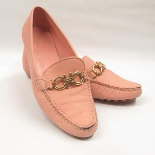 Salvatore Ferragamo Pink Leather Loafers