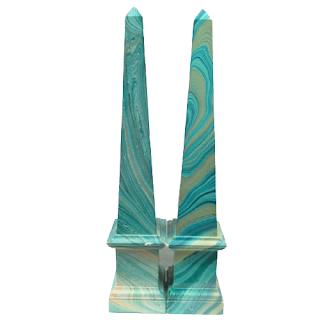 Decorative Obelisk Pair
