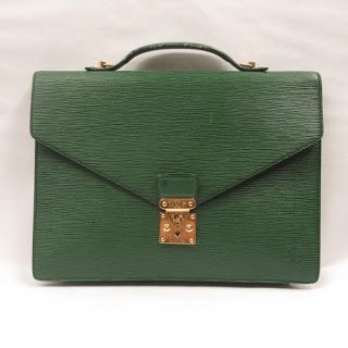 Louis Vuitton Vintage Green Epi Leather Attache