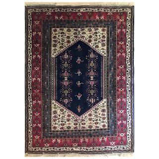 Wool Persian Coffee Pot Area Rug
