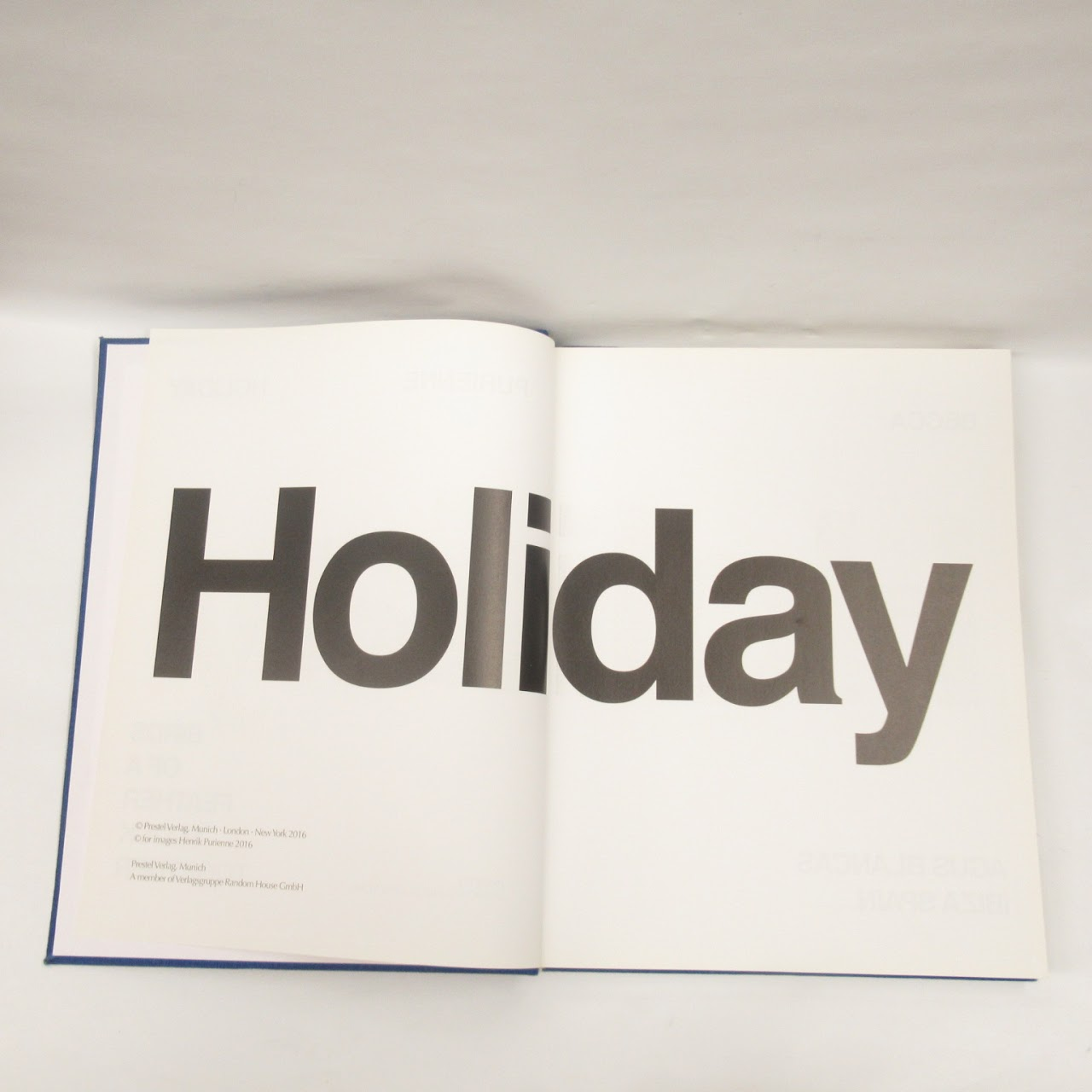 Henrik Purienne RARE 'Holiday: Birds of a Feather Flock Together' Photography Book